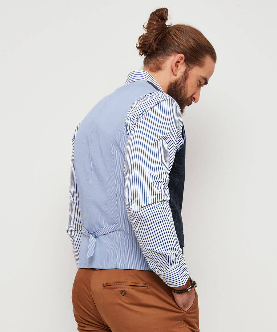 Confidently Cool Waistcoat Model Back