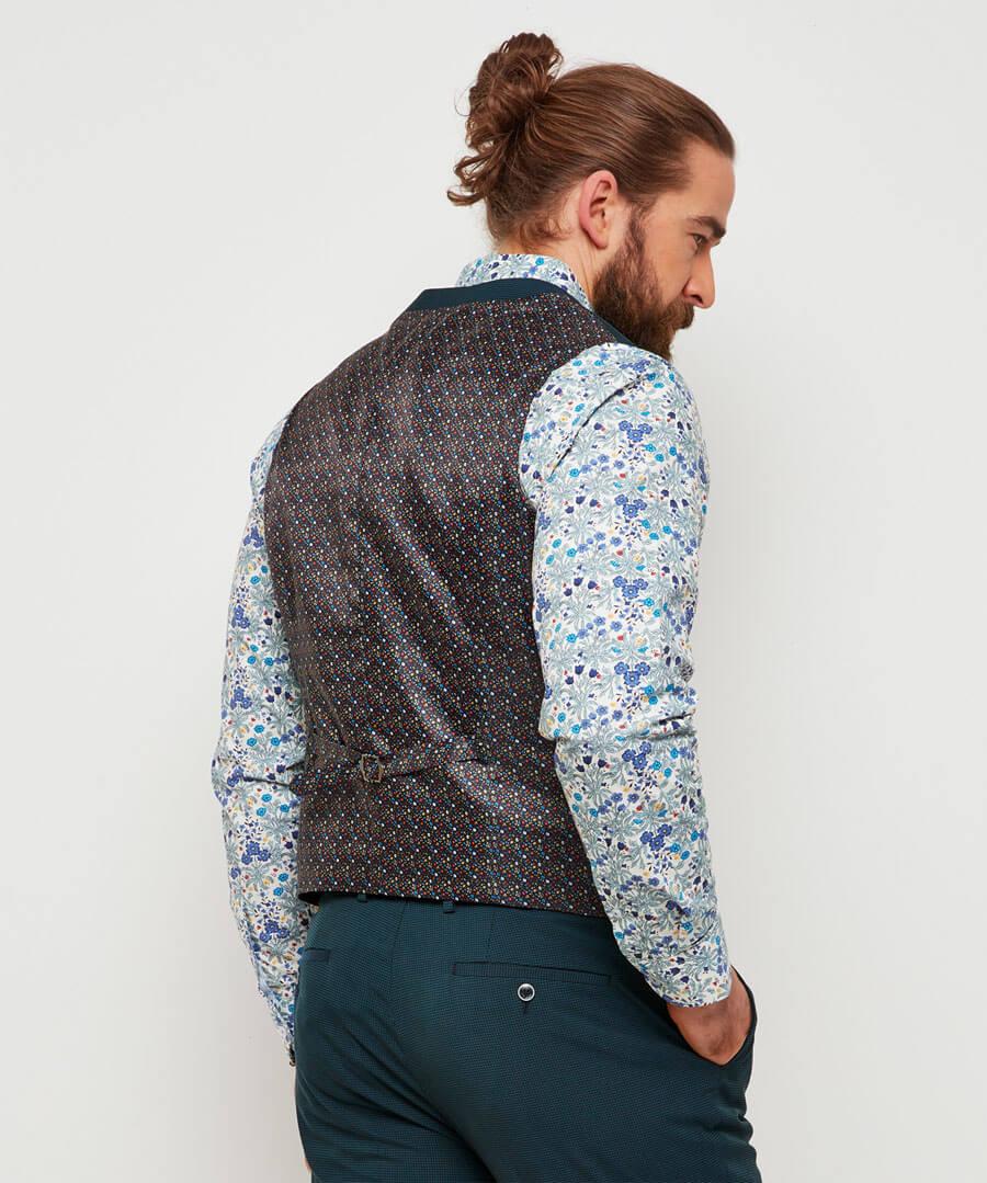 Super Snappy Suit Waistcoat Model Back