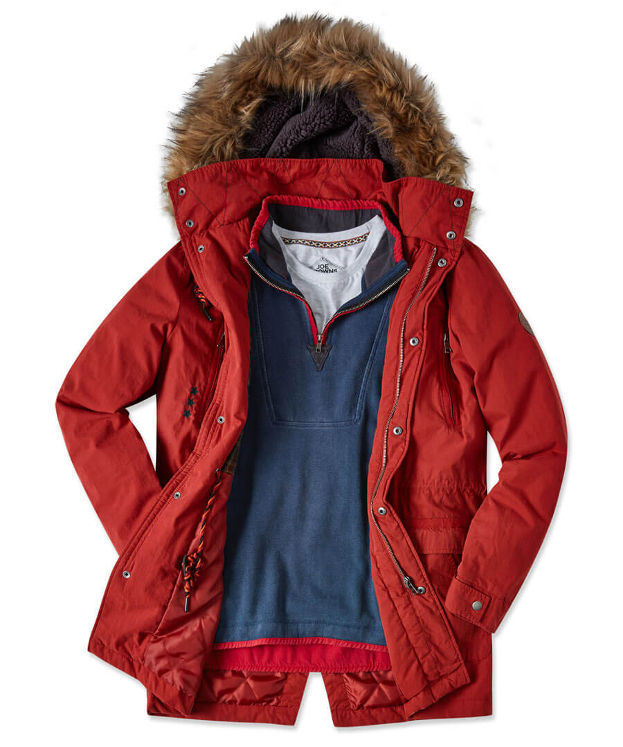 Into The Woods Parka Model Front