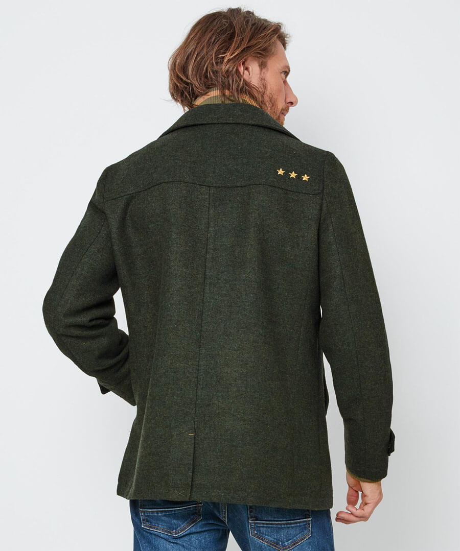 Layer It Up Coat Model Back
