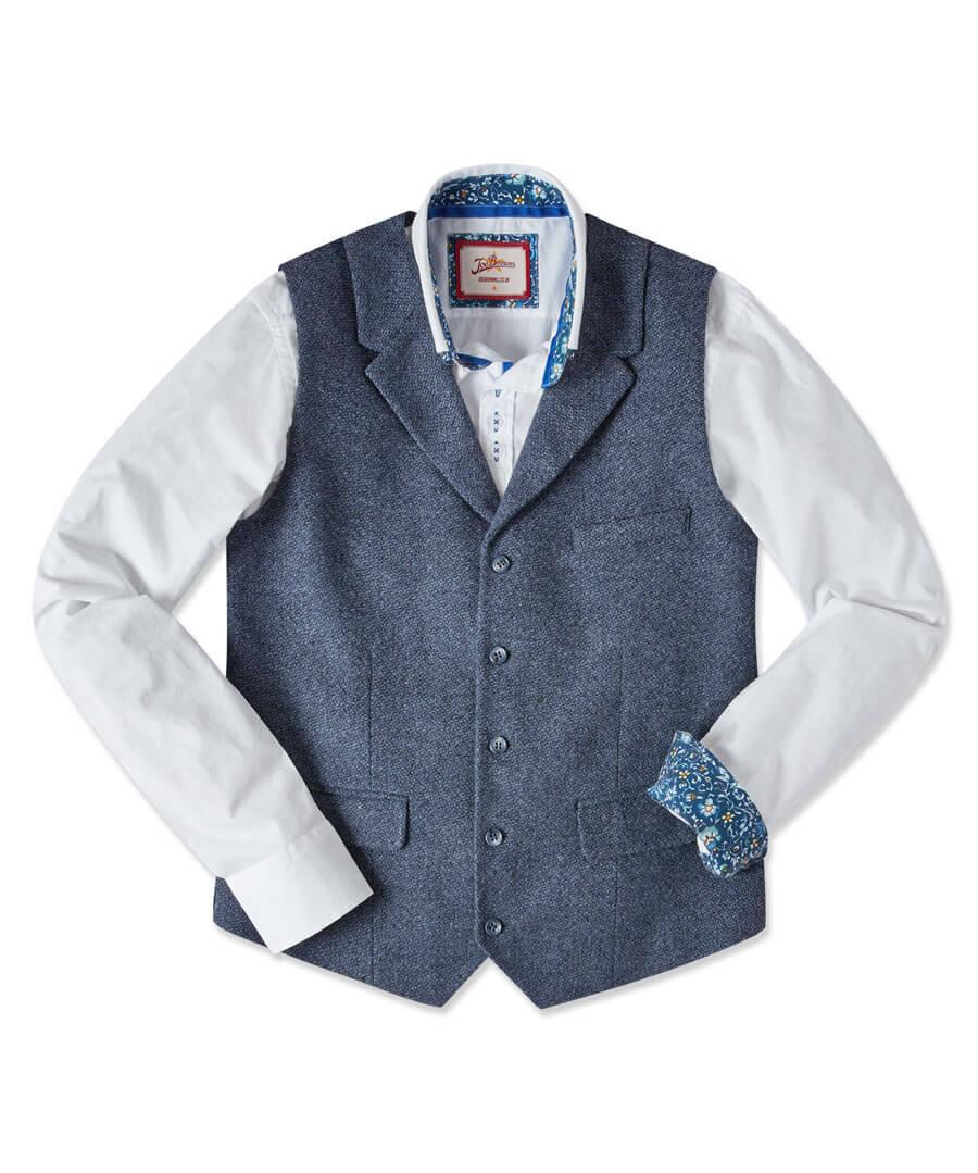 Terrific Textured Waistcoat Model Front