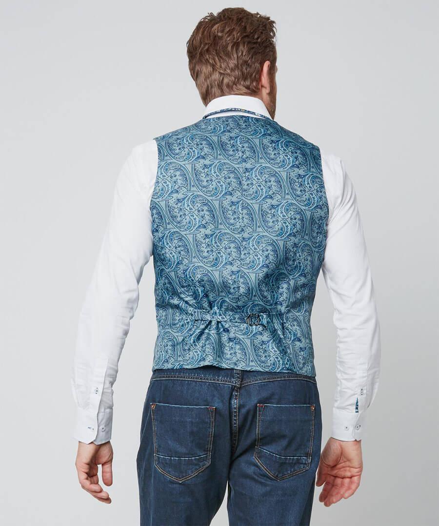 Terrific Textured Waistcoat Model Back
