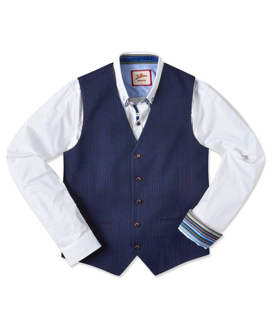 Snazzy Stripe Waistcoat Model Front