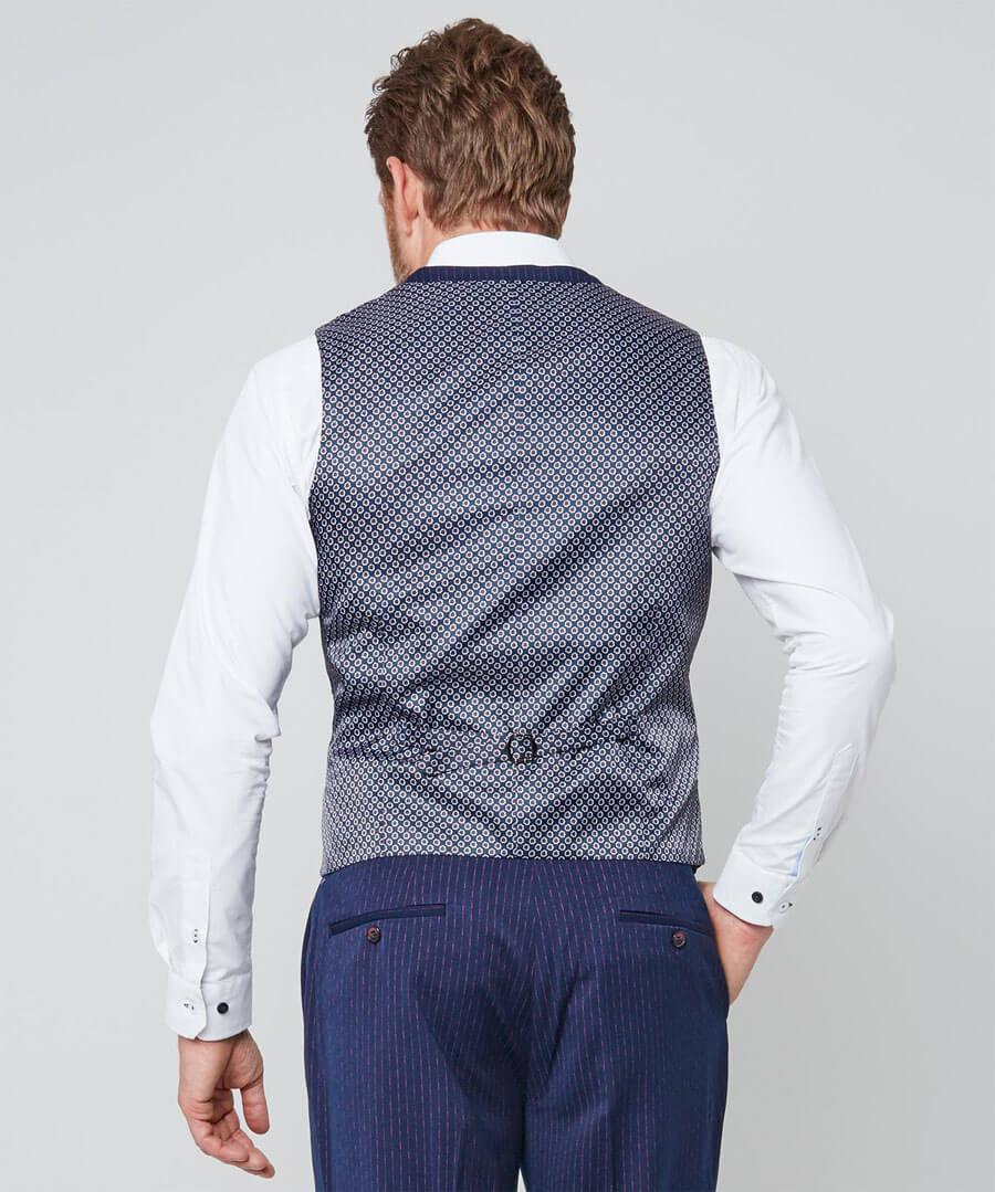 Snazzy Stripe Waistcoat Model Back