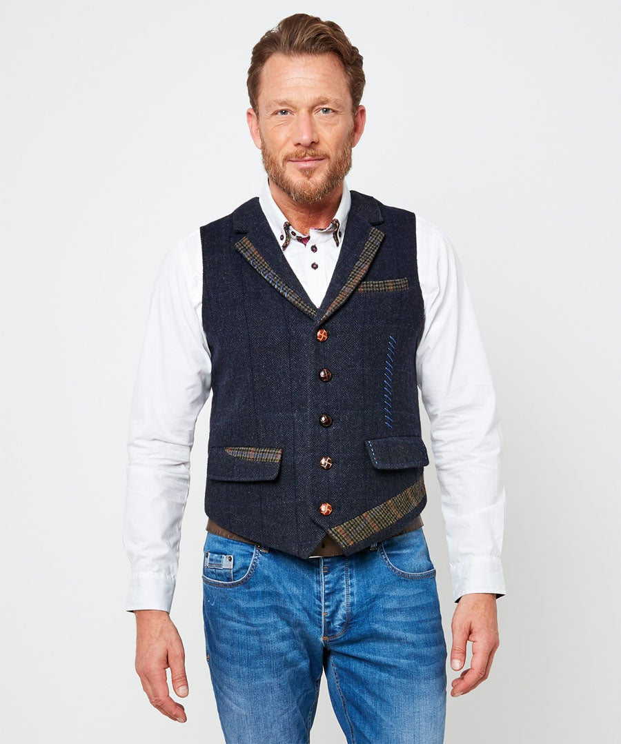 Delightfully Different Waistcoat Model Front