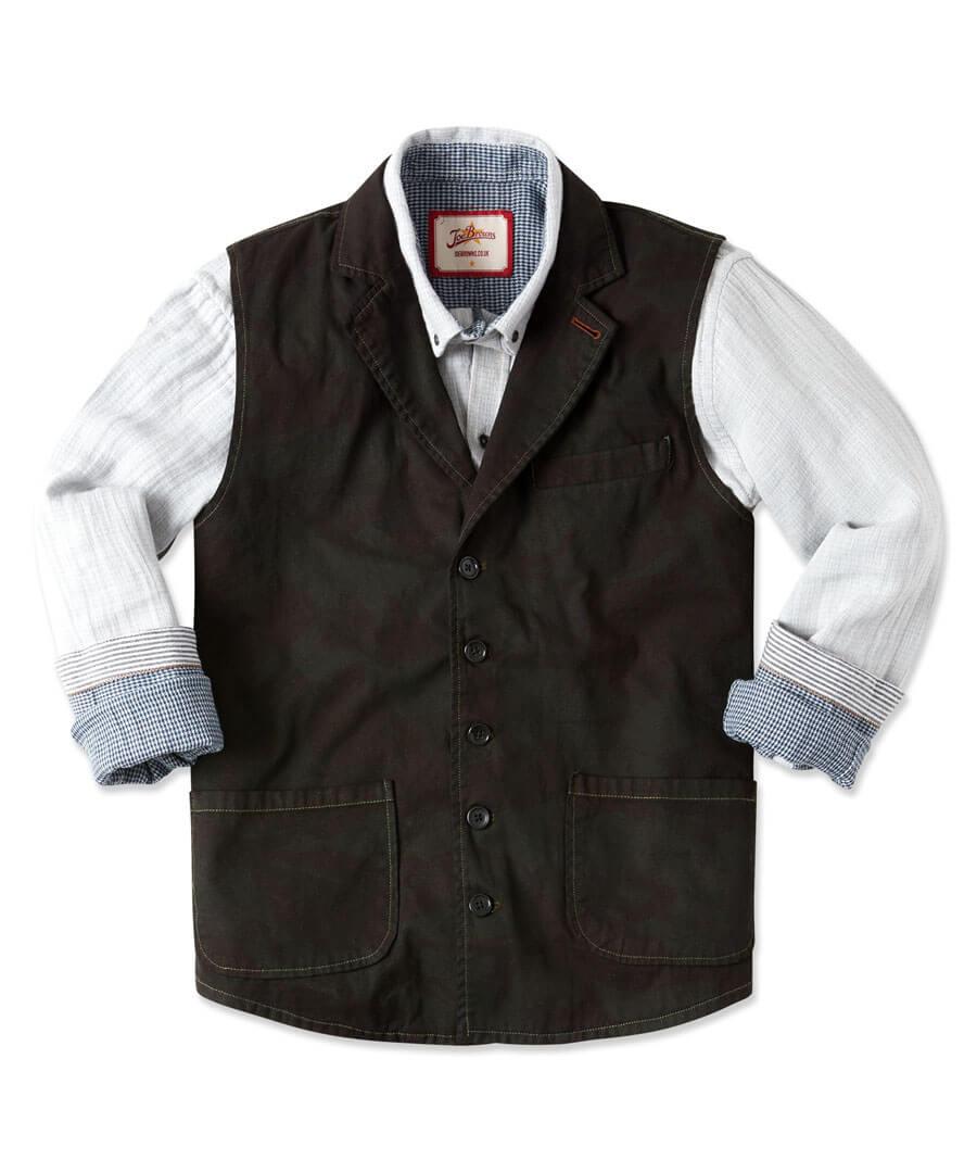 Full Of Action Waistcoat Model Front