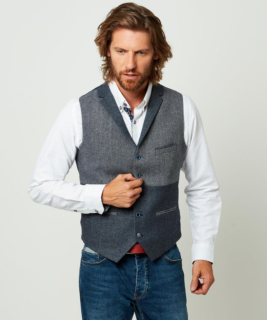 In The Mix Waistcoat Model Front