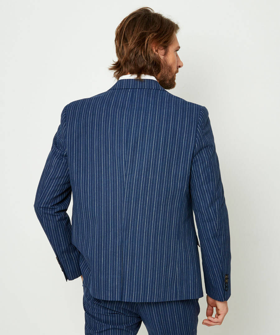 Superb Stripe Blazer Model Back