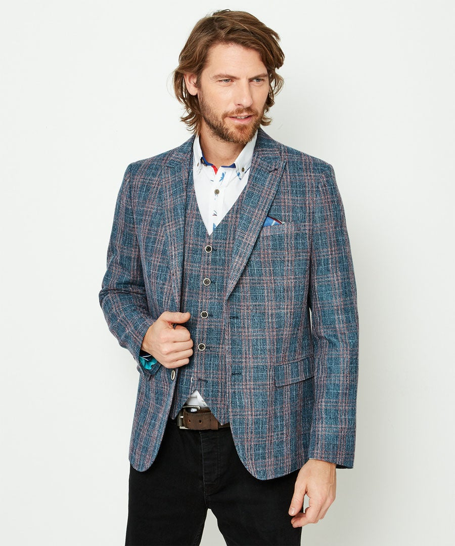 Charismatic Check Blazer Model Front