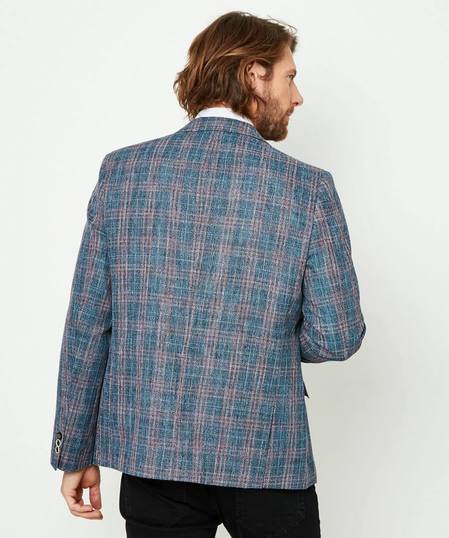 Charismatic Check Blazer Model Back