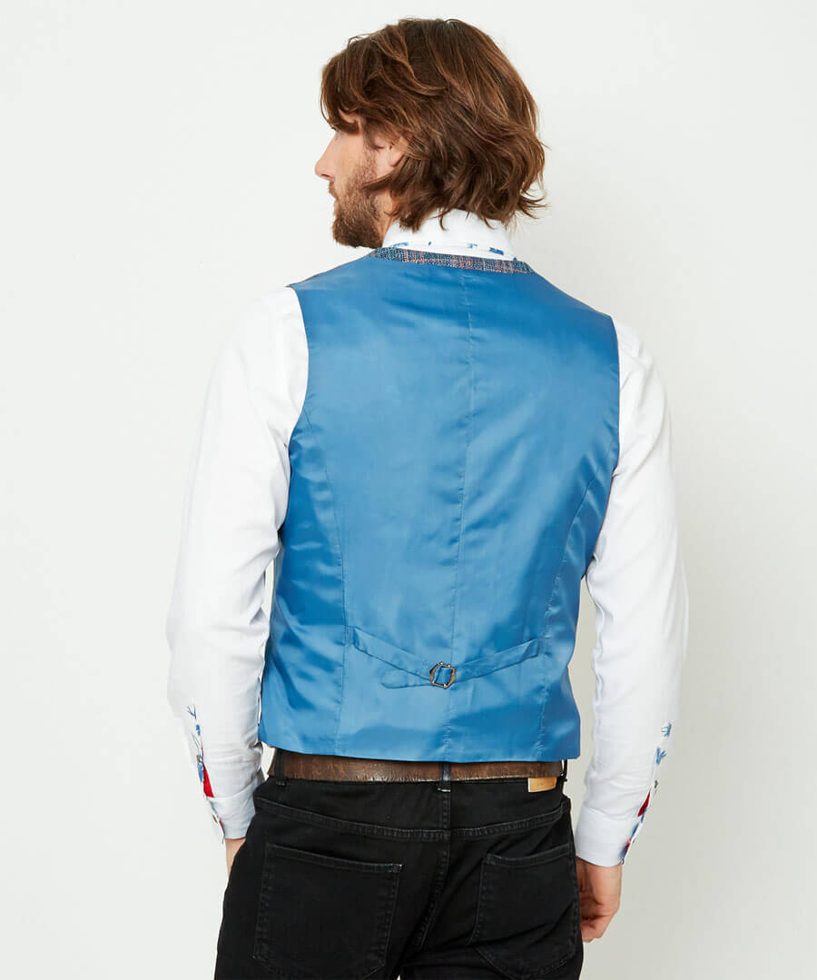 Charismatic Check Waistcoat Model Back