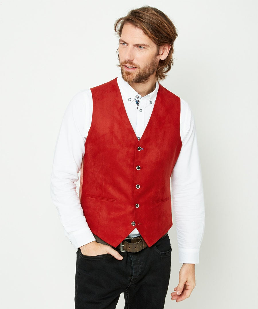 Confident And Cool Waistcoat Model Front