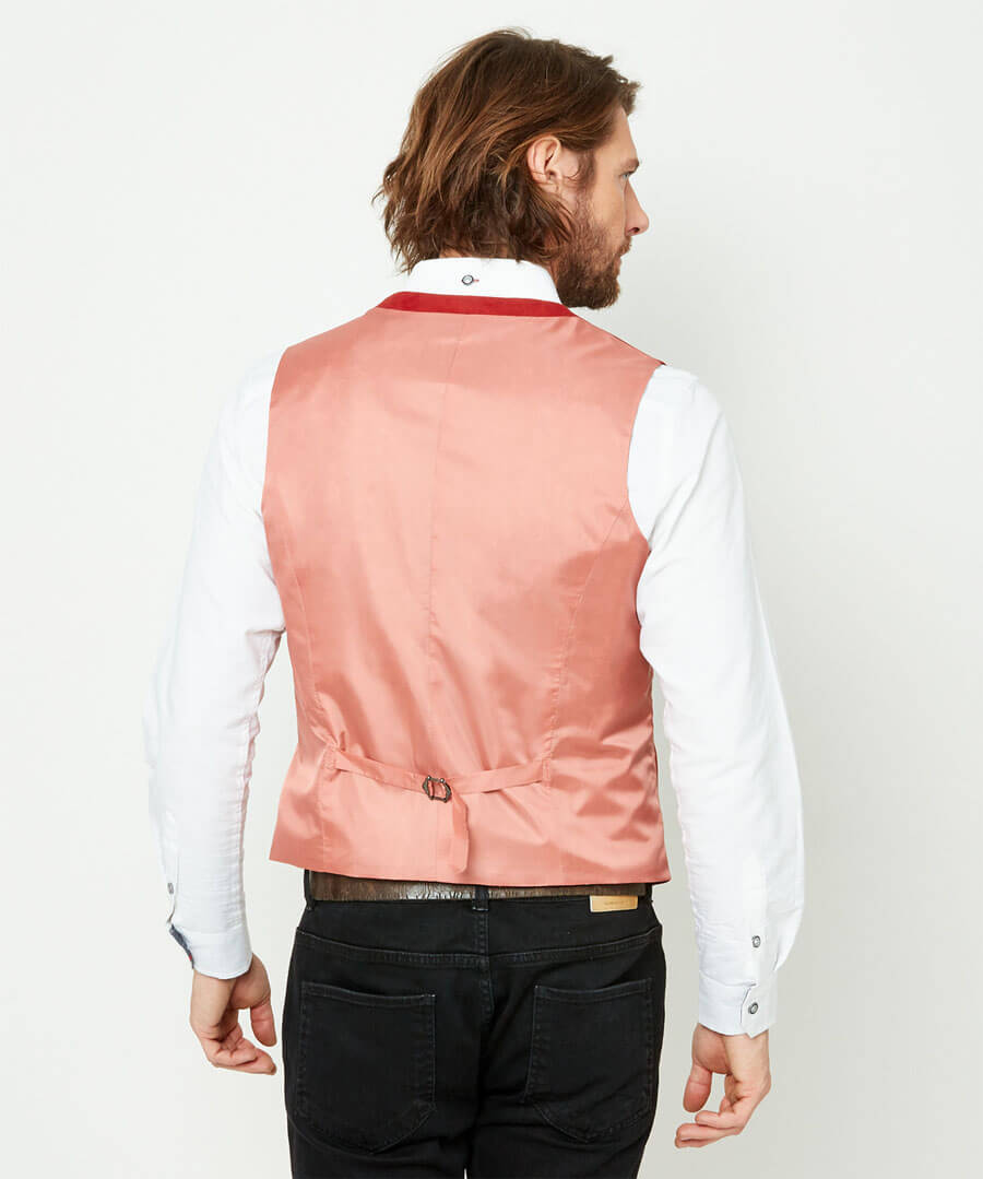Confident And Cool Waistcoat Model Back