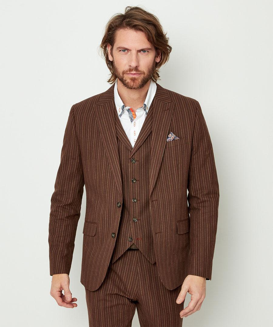 1920s Mens Suits | Gatsby, Gangster, Peaky Blinders Sensational Stripe Blazer $100.00 AT vintagedancer.com