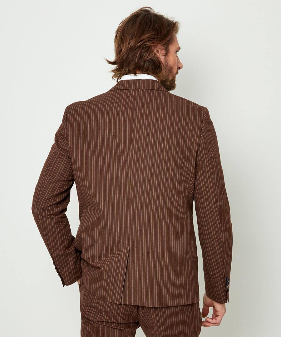 Sensational Stripe Blazer Model Back