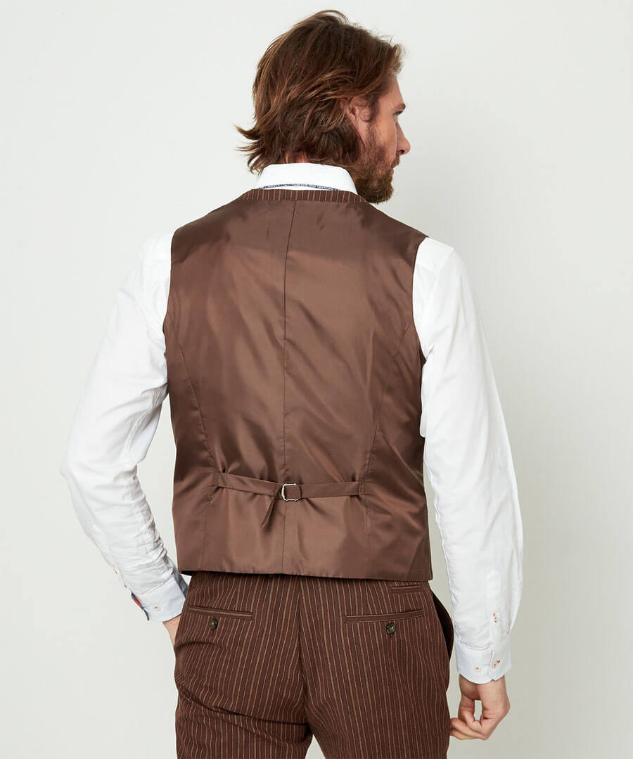Sensational Stripe Waistcoat Model Back