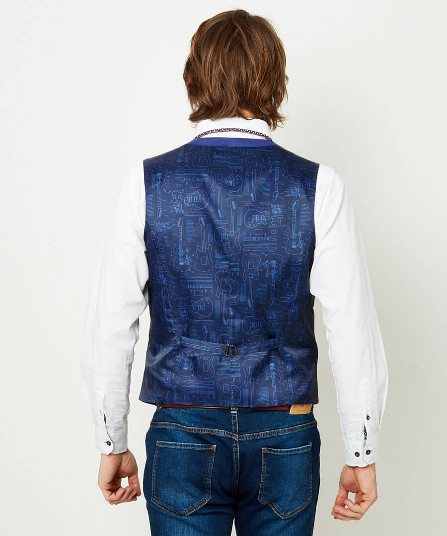 Fun And Funky Waistcoat Model Back