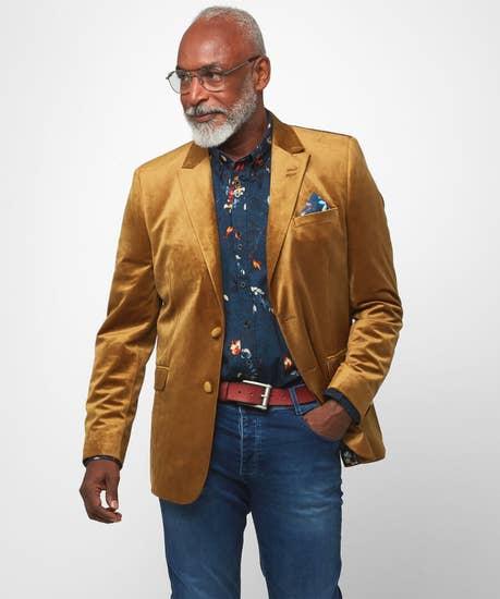 Glorious Gold Velvet Blazer