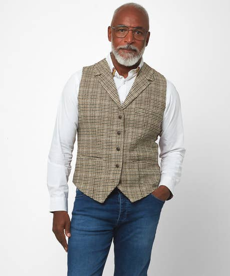 Confidently Cool Check Waistcoat