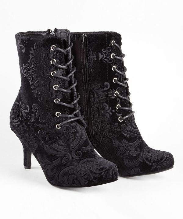 Chrissie's Favourite Velvet Boots