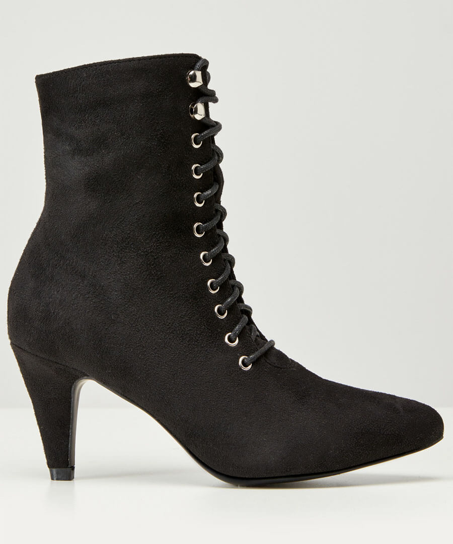 Mischief Lace Up Ankle Boots Model Back