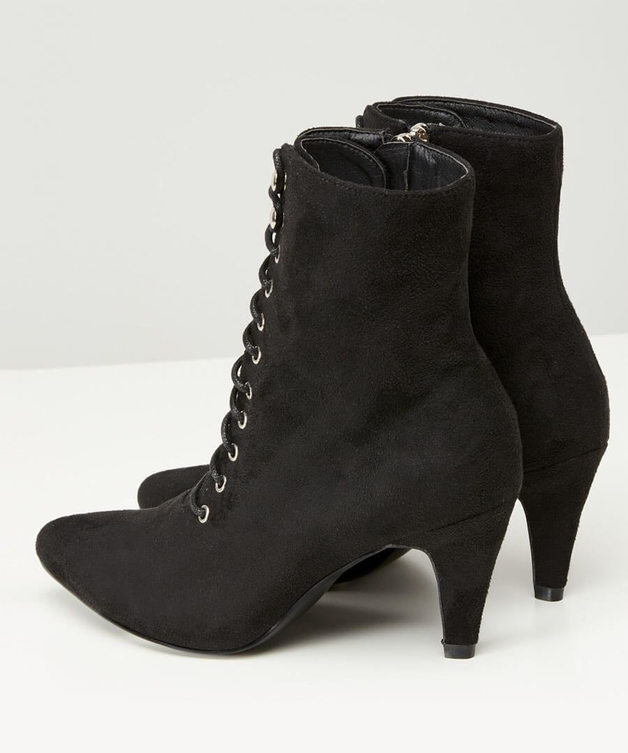 Mischief Lace Up Ankle Boots Back