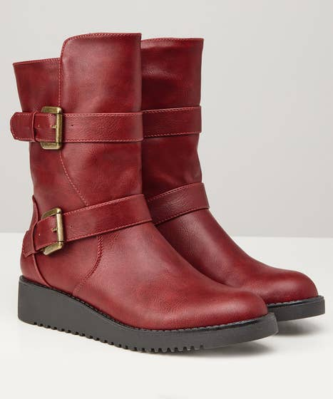 Red And Devilish Biker Boots