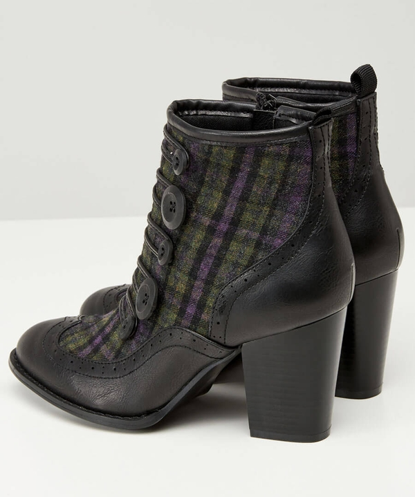 A Twist On Tweed Ankle Boots