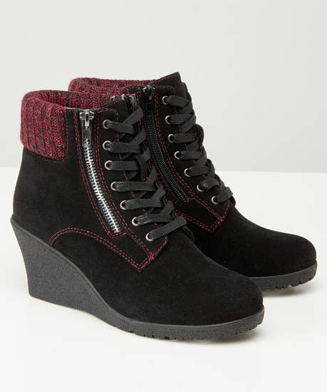 Cute To Boot Wedge Ankle Boots