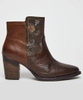 In The Mix Leather Ankle Boots