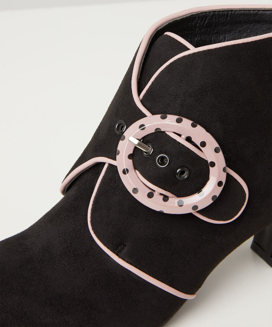 Little Minx Buckle Boots Model Back