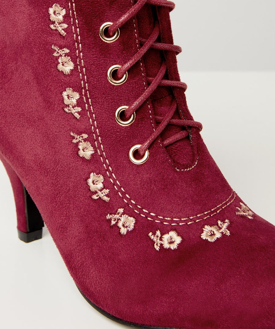 Romany Girl Embroidered Boots Model Back