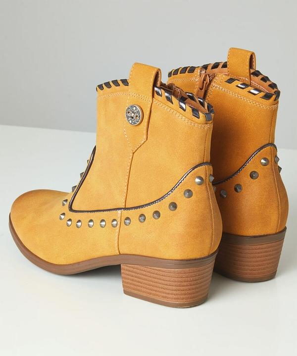 Cut The Mustard Studded Boots