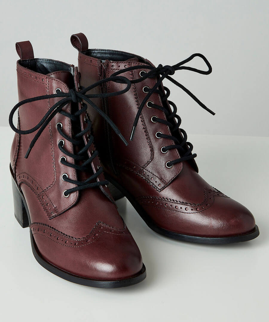 Victorian Boots & Shoes – Granny Boots & Shoes A Change Of Season Leather Boots $75.00 AT vintagedancer.com