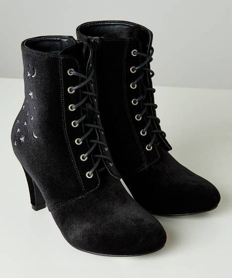 Another Galaxy Velvet Boots
