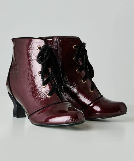 Joyful Patent Ankle Boots
