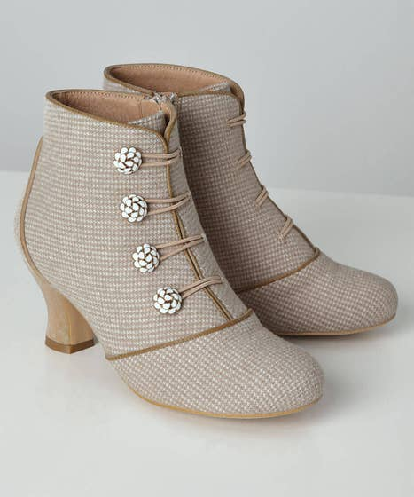 Edwardian Shoes – Styles for Women Delightful And Dainty Boots $80.00 AT vintagedancer.com