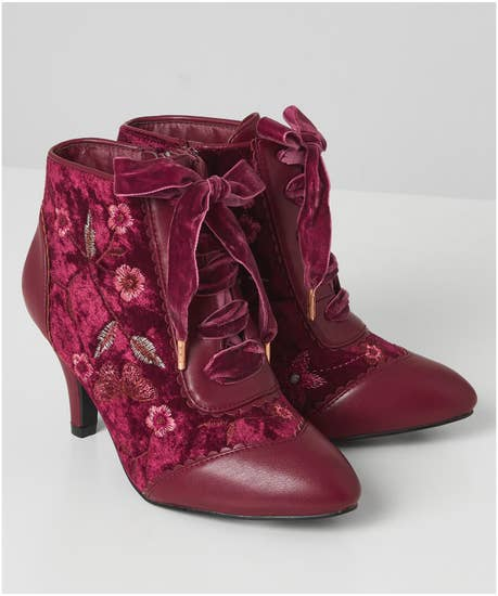 History of Victorian Boots & Shoes for Women Memories Of Venice Ankle Boots $77.00 AT vintagedancer.com
