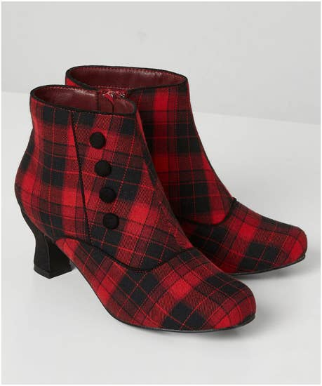 Penny Lane Check Boots