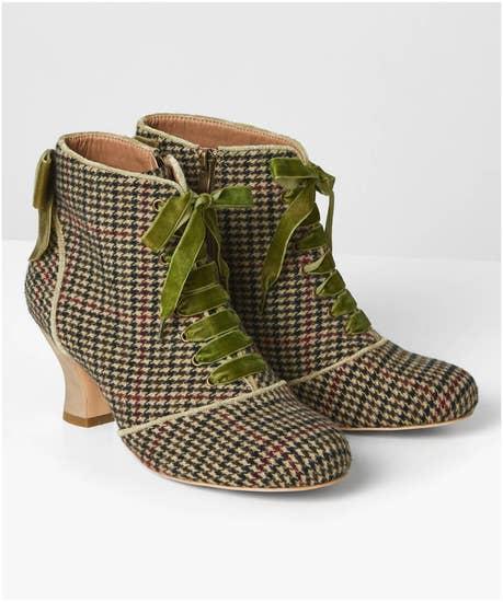 Very Tempting Tweedy Boots