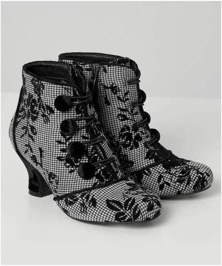 Goddess Velvet Trim Boots