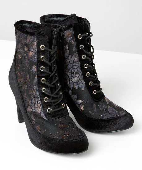 Rock It Up Velvet Ankle Boots