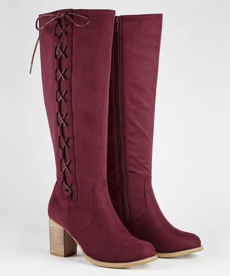 Striking Side Lace Boots