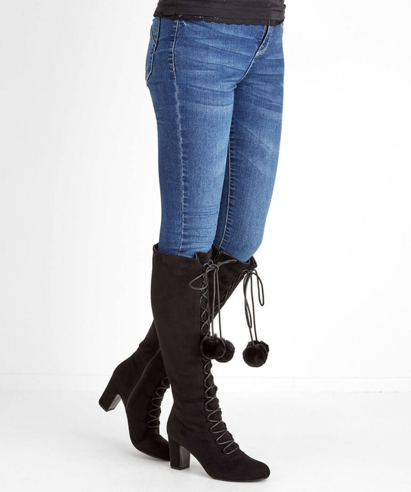 Forever Individual Pom Pom Boots