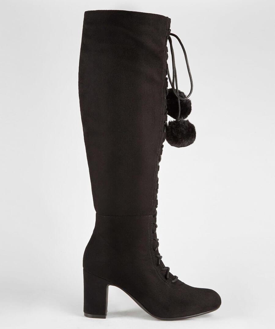 Forever Individual Pom Pom Boots Model Back