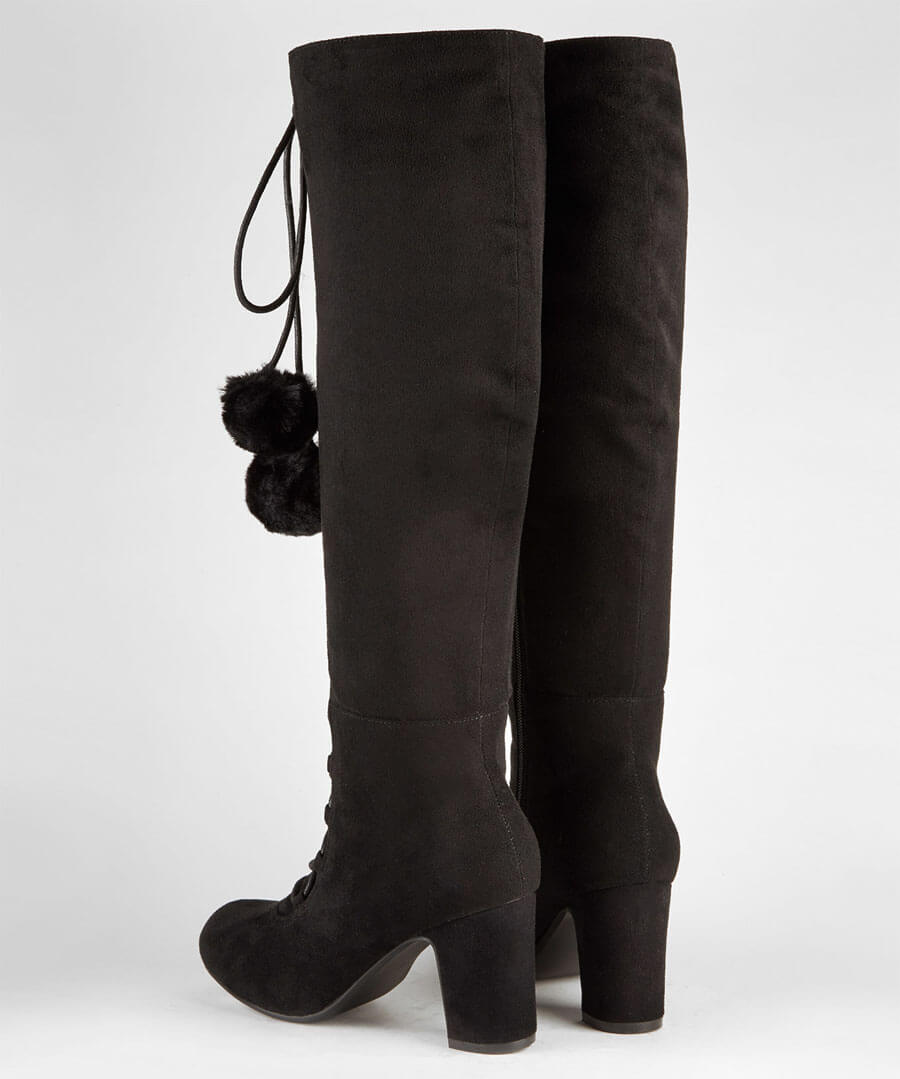 Forever Individual Pom Pom Boots Back