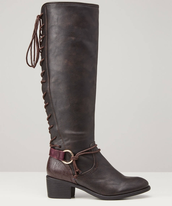 Simply Stylish Lace Back Boots