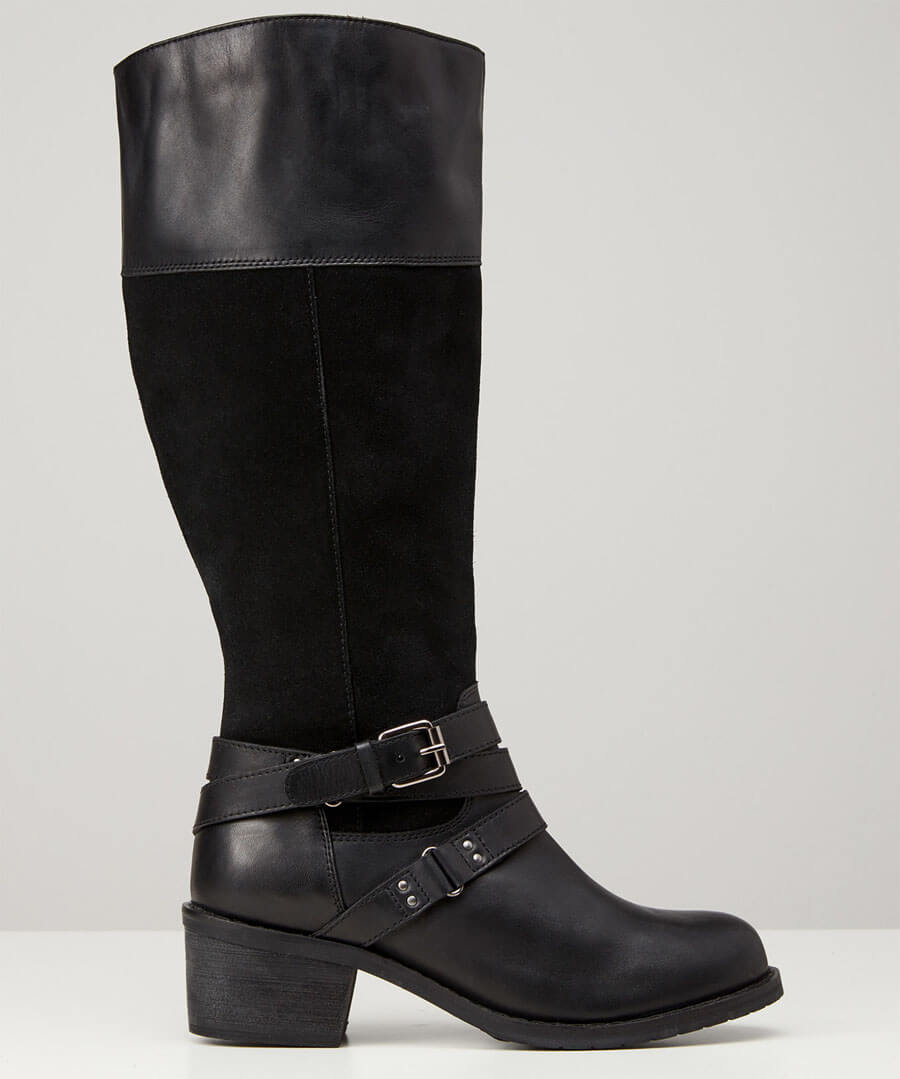Ultimate Leather Strap Boots Model Back