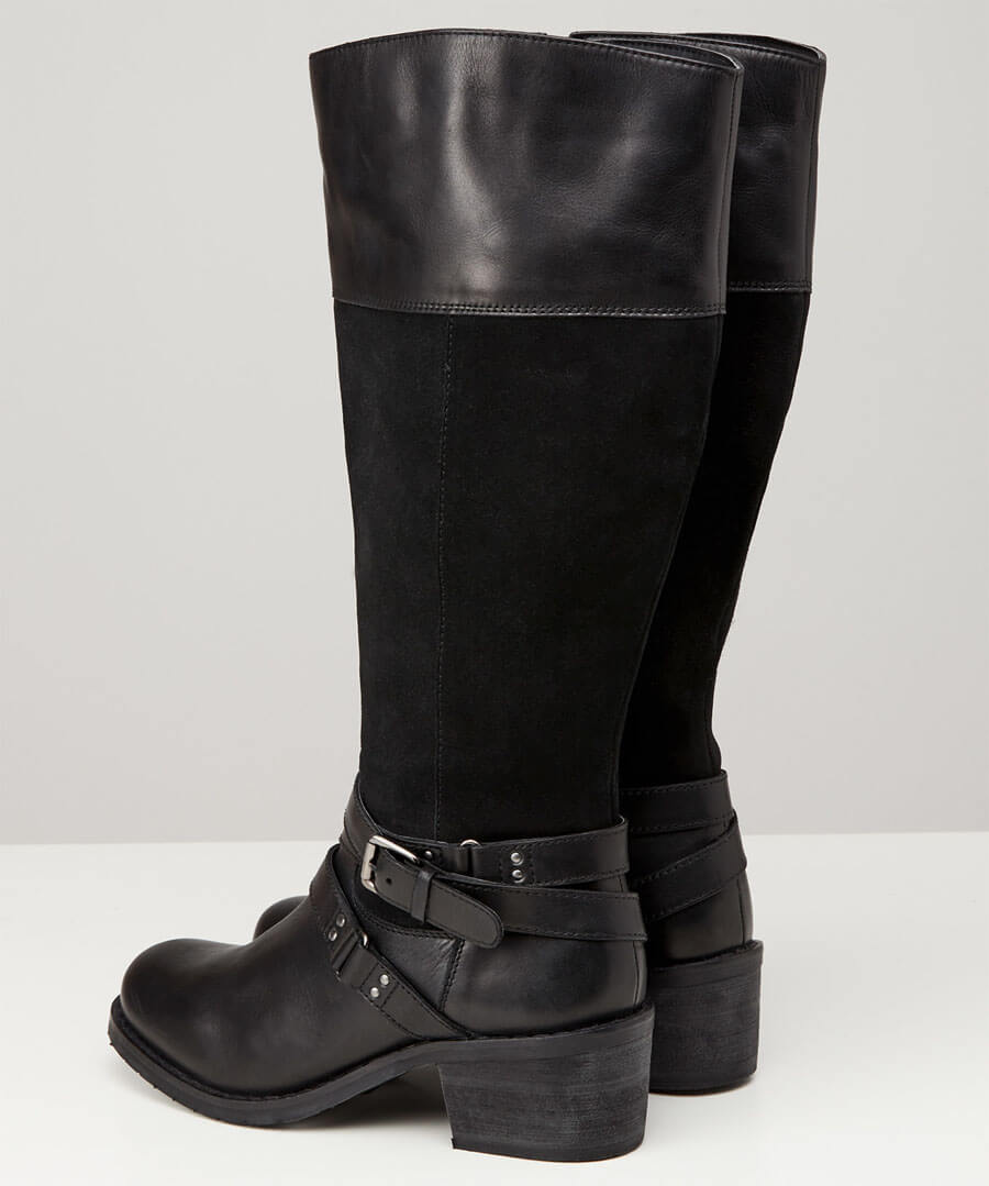 Ultimate Leather Strap Boots Back