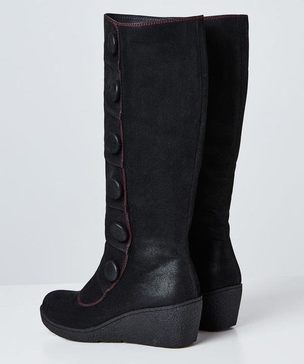 Bold And Beautiful Wedge Boots